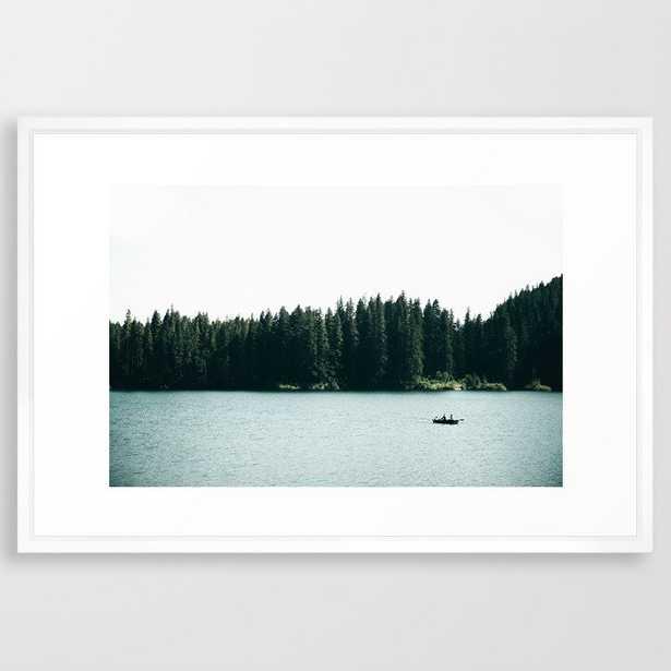 Lake Days Framed Art Print by Hannah Kemp - Vector White - LARGE (Gallery)-26x38 - Society6