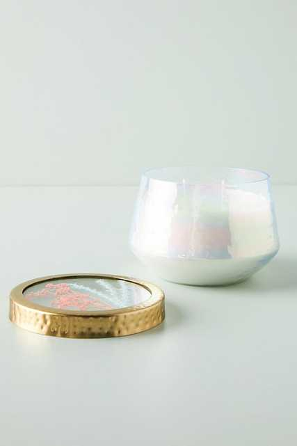 Floral Press Candle By Rosy Rings in White Size S - Anthropologie