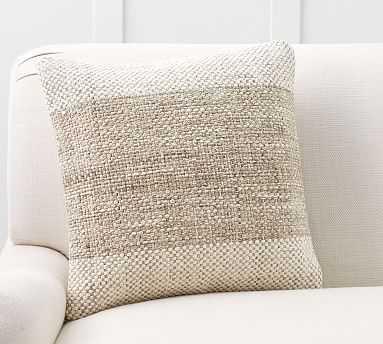 "Nara Woven Pillow Cover, 20"", Natural Multi - Pottery Barn"
