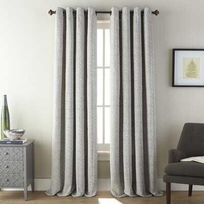 Amelio Semi-Sheer Grommet Single Curtain Panel (Set of 2) - AllModern