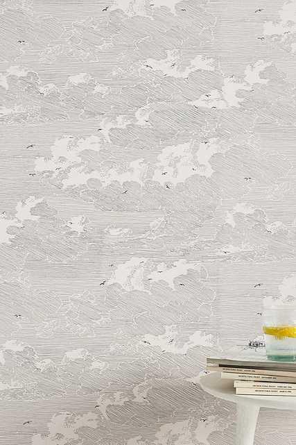 Cloud Formation Wallpaper By Eijffinger in Black Size SWATCH - Anthropologie