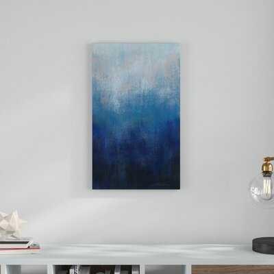 'Silver Wave I' Acrylic Painting Print on Canvas - Wayfair