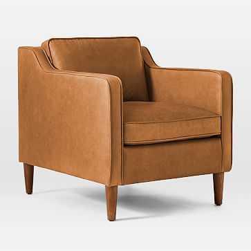 Hamilton Leather Chair, Charme Leather, Burnt Sienna - West Elm