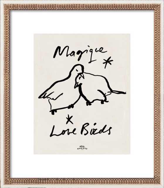 MAGIQUE LOVE BIRDS by Milou Neelen for Artfully Walls - Artfully Walls