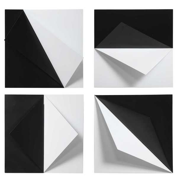Origami Metal Wall Decor, Set of 4 - Hudsonhill Foundry