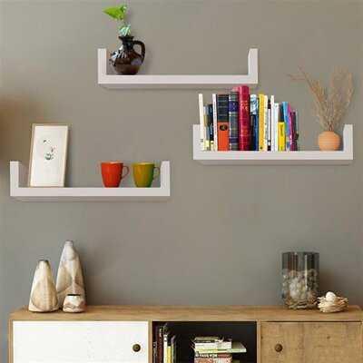 Jessame 3 Piece Floating Shelf - Wayfair