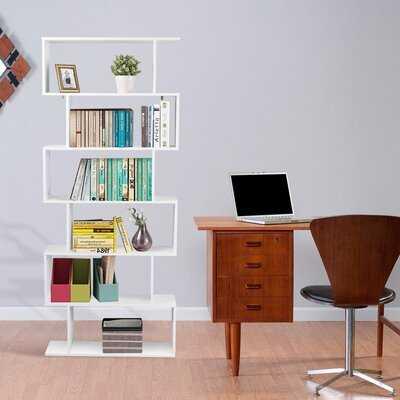 75.5'' H x 31.5'' W Geometric Bookcase - Wayfair