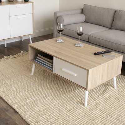 Joice Coffee Table with Storage - Wayfair