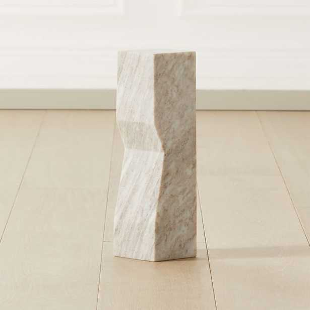 Vesta Marble Sculpture Pedestal Small - CB2