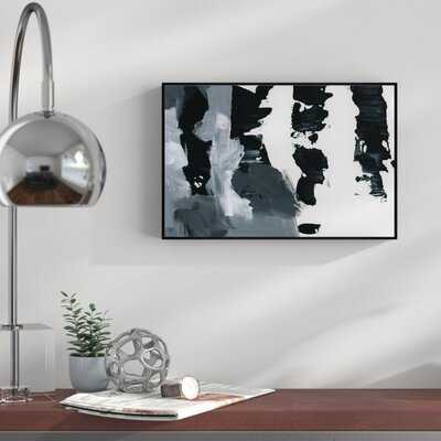 Abstract Pronto Paint - Floater Frame Graphic Art Print on Canvas - AllModern