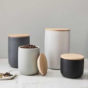 Kaloh Kitchen Storage Jars, Set of 4 - West Elm