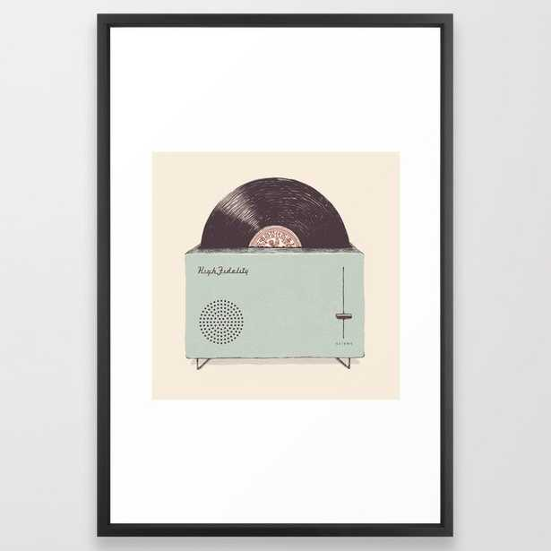 High Fidelity Toaster Framed Art Print by Florent Bodart / Speakerine - Vector Black - LARGE (Gallery)-26x38 - Society6