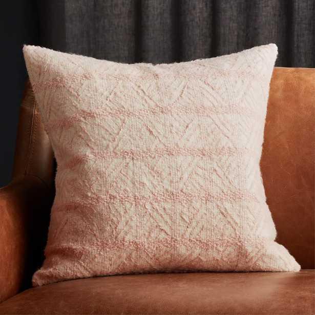 "20"" Tilda Pink/White Chevron Pillow with Feather-Down Insert - CB2"
