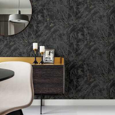 """Dougie Marble 33' L x 27.5"""" W Wallpaper Roll - AllModern"""