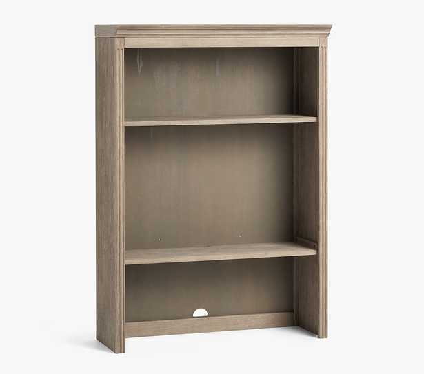 Livingston Double Bookcase Hutch, Grey Wash, In-Home Delivery - Pottery Barn Kids