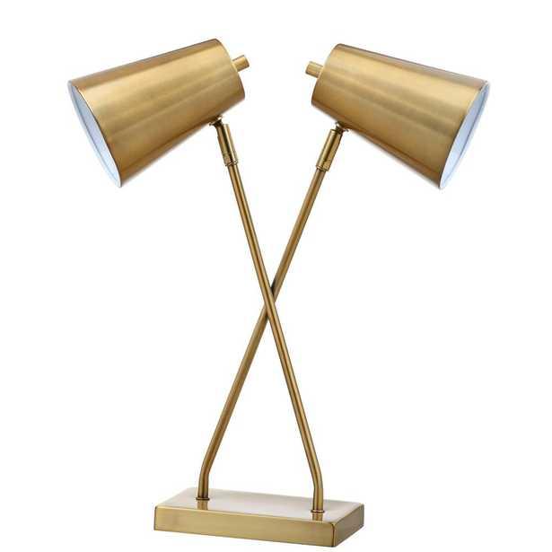 Safavieh Kera 20 in. Gold Table Lamp - Home Depot