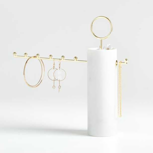 Paulina Marble Jewelry Stand - Crate and Barrel