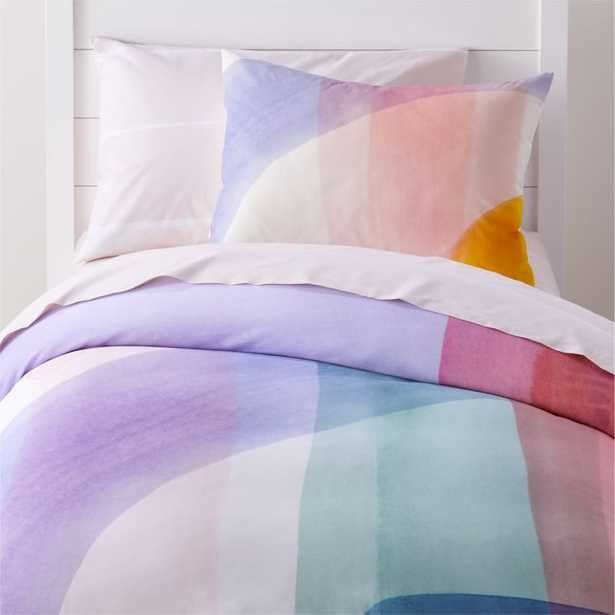 Brushstroke Twin Duvet Cover - Crate and Barrel
