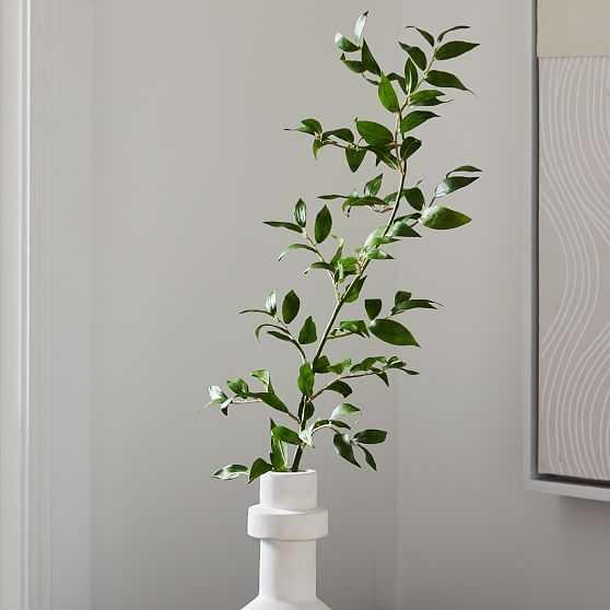 Faux Ficus Leaf Stem, 36in - West Elm