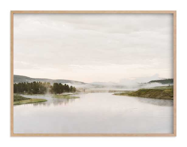 Misty Lake Art Print-autumn green - Minted