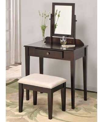 Mcgraw Vanity Set with Stool and Mirror - Birch Lane