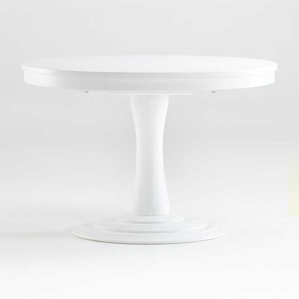 """Aniston White 45""""-60"""" Round Extension Dining Table - Crate and Barrel"""