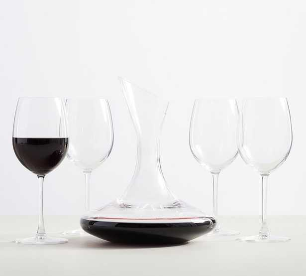 Wine Lovers 5-Piece Gift Set (Wine Decanter & 4 Wine Glasses) - Pottery Barn