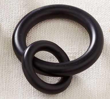 PB Standard Curtain Round Ring, Single, Small, Antique Bronze Finish set of 7 - Pottery Barn