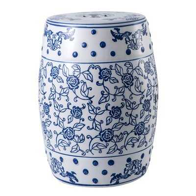 Chinese Style Ceramic Garden Stool Heavy Duty Sturdy Ceramic Side Table For Indoor Outdoor Living Room Patio - Wayfair