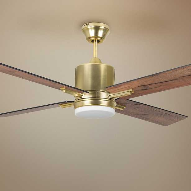 """52"""" Craftmade Teana Satin Brass LED Ceiling Fan - Style # 74R08 - Lamps Plus"""