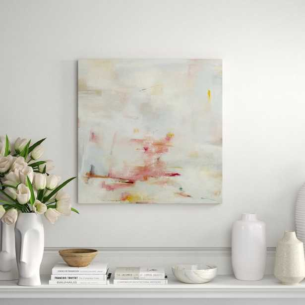 """Chelsea Art Studio 'Blush Emergence' by Samuel Kane - Painting Print Format: Outdoor, Size: 47"""" H x 47"""" W x 1.5"""" D - Perigold"""