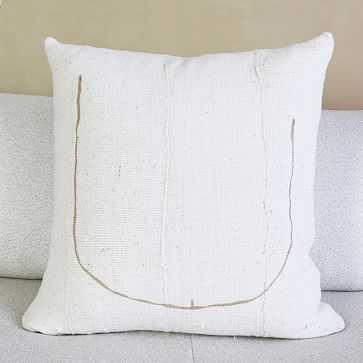 Tookus Minimalist Painted Pillow, Ivory + Nude - West Elm