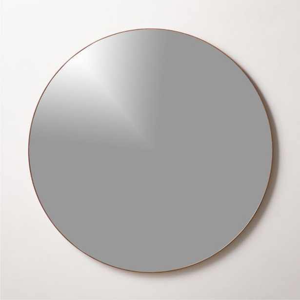 """Infinity Midtone Round Mirror 36"""" - CB2"""