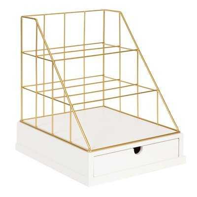 Premont Metal and Wood File Organizer - Wayfair