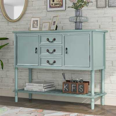 45'' Modern Console Table Sofa Table For Living Room With 3 Drawers, 2 Cabinets And 1 Shelf, Navy Blue - Wayfair
