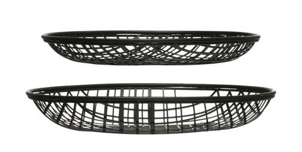 """14"""" & 16"""" Round Decorative Metal Wire Baskets (Set of 2 Sizes) - Moss & Wilder"""