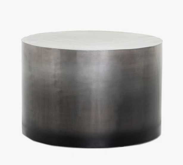 Ferris Round Coffee Table, Ombre Antique Pewter - Pottery Barn