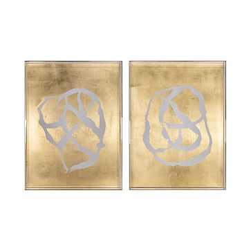 New Era Gold Leaf Art, A + B - West Elm