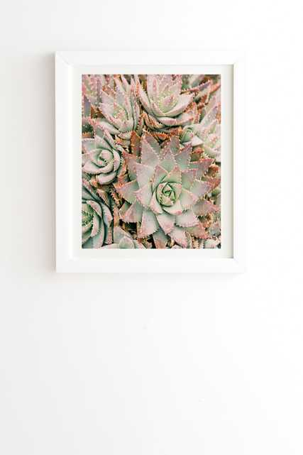 "Succulent by Bree Madden - Framed Wall Art Basic White 8"" x 9.5"" - Wander Print Co."
