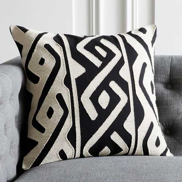 """20"""" Xand Pillow with Feather-Down Insert - CB2"""