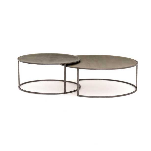 Four Hands Catalina Nesting Coffee Table Table Top Color: Galvanized - Perigold