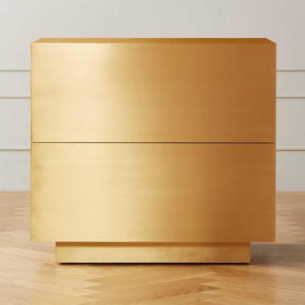 Penn Brass Clad Wide 2 Drawer File Cabinet - CB2