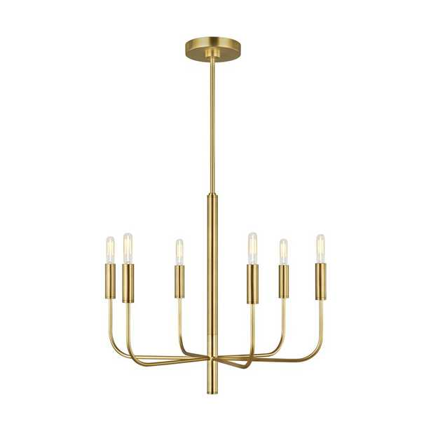 Brianna 6 - Light Candle Style Classic / Traditional Chandelier Finish: Burnished Brass - Perigold