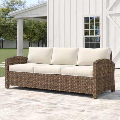 "Lawson 80.5"" Wide Outdoor Wicker Patio Sofa with Cushions - Wayfair"
