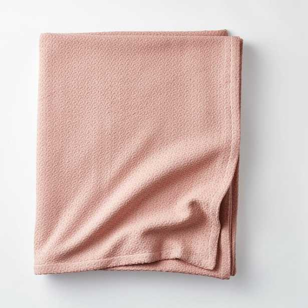 The Company Store Organic Cotton Rose Quartz Solid Twin Woven Blanket - Home Depot