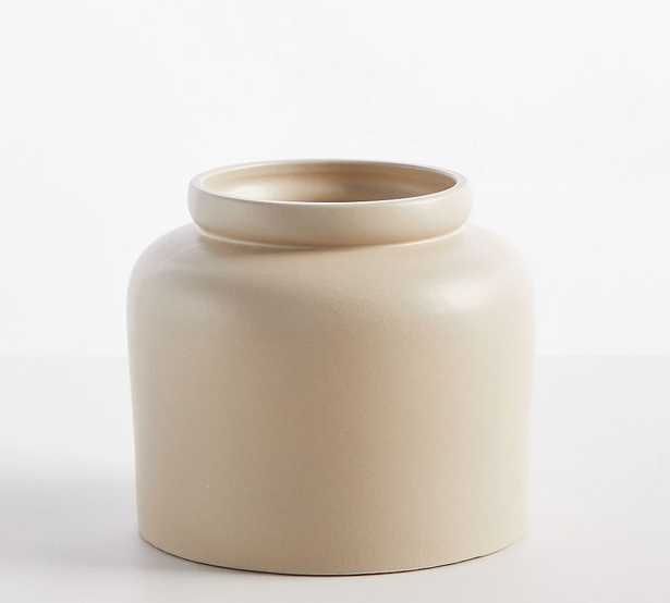 "Dalton Ceramic Vase, Silt, Short, 8.75""H - Pottery Barn"