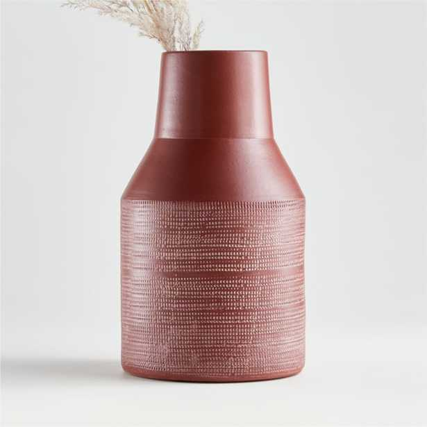 Lemont Medium Rust Vase - Crate and Barrel