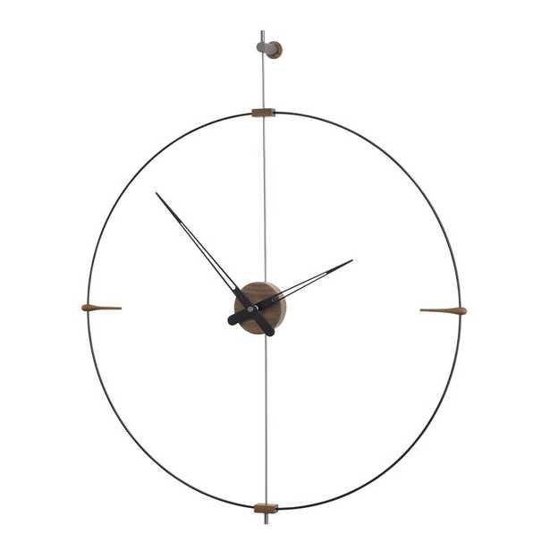 Nomon Mini Bilbao Wall Clock Finish: Brass/Walnut - Perigold