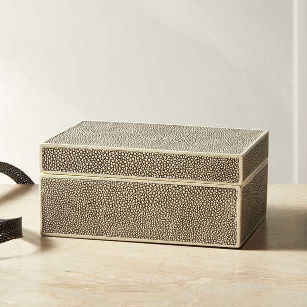 Resin Shagreen Jewelry Box - CB2