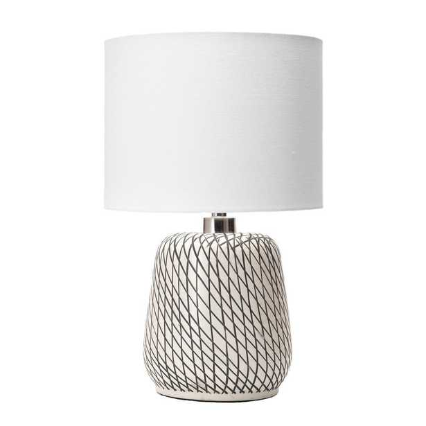 nuLOOM 25 in. Beige Hope Glass Indoor Table Lamp - Home Depot